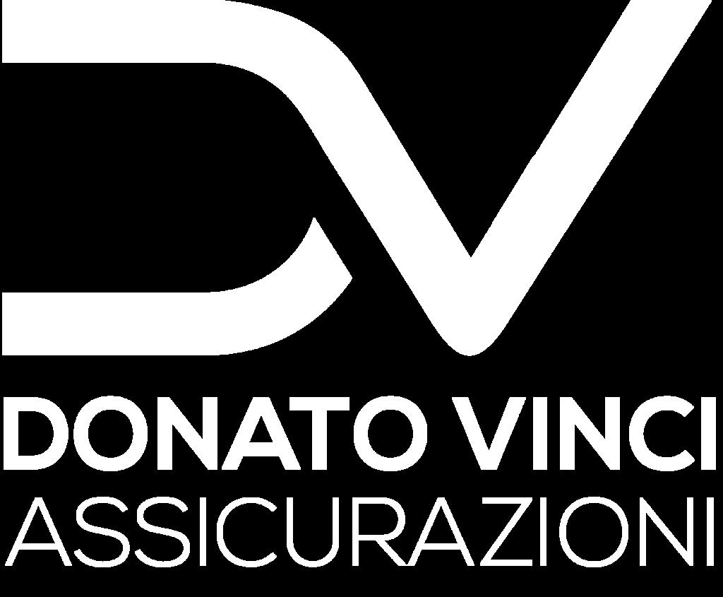 Logo Donato Vinci assicurazioni bianco